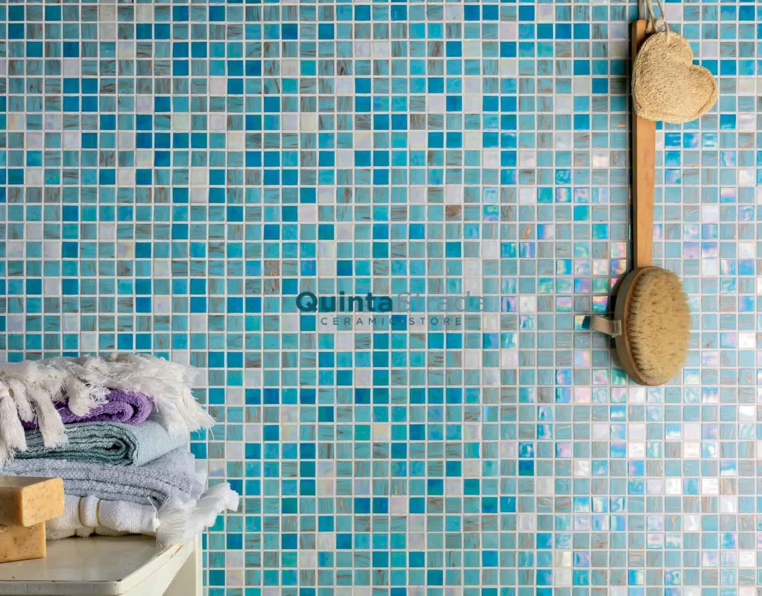 Piastrelle bagno mosaico azzurro: bagno collezione game mosaici di